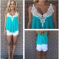 Women Summer Sexy Vest Top Sleeveless Blouse Casual Tank Tops T-Shirt Lace