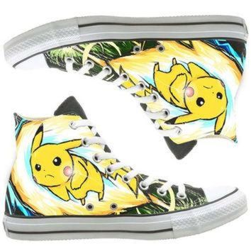 DCCKHD9 Anime Converse custom painted shoes, custom shoes by natalshoes