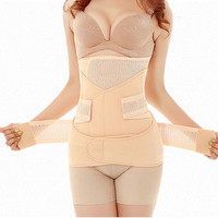 Waist Polyester Postpartum Abdominal Belt Recovery Belly/abdomen/pelvis Shapewear Breathable 3in1 Belly Special Offer 2016 Slim