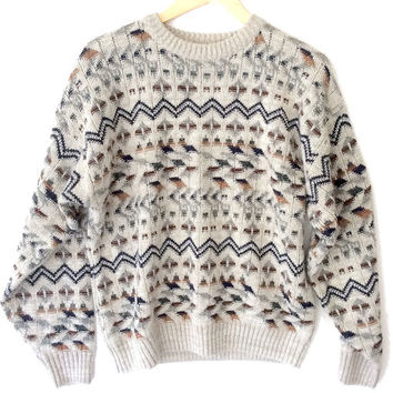 Aztec Zig Zag Ugly Huxtable / Cosby Sweater