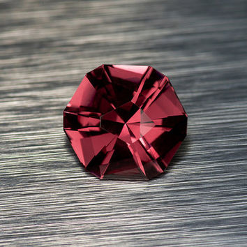 Rhodolite Garnet: 1.68ct Red Round Shape Gemstone, Natural Hand Made Faceted Gem, Loose Precious Mineral, Custom Cut Designer Lapidary 20916