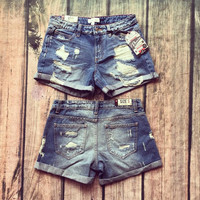 """Distressed Boyfriend"" Shorts"