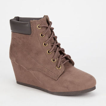 City Classified Inso Womens Hiker Wedges Taupe  In Sizes