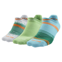 Nike Graphic Tab No-Show Socks (3 Pair) Size Medium (Blue)