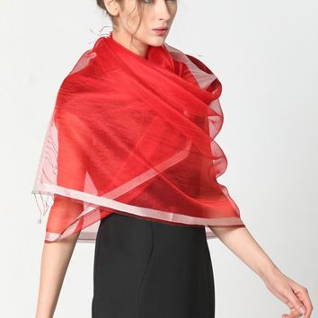 Stylish Sunscreen Scarves Silk Sun Block Shawl Scarf for Air Condition Room