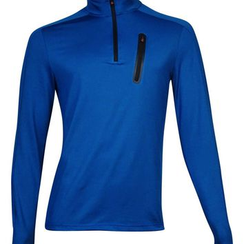 Hawke Co. Men's Outfitter Quarter-Zip Pullover Sweater (Blue Print, S)