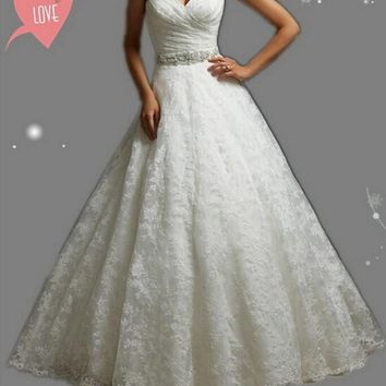 08409c0cb49c7 9057 2016 Beads Crystal White Wedding Dresses lace for brides p