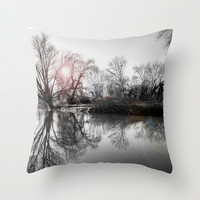 TREE-FLECTION Throw Pillow by catspaws