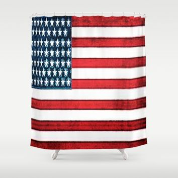 Patriot Shower Curtain by Jessica Ivy