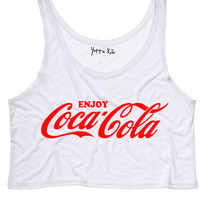 Enjoy Coke Crop Tank Top