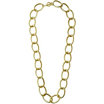 EMMA LARGE LINKS LONG NECKLACE IN GOLD