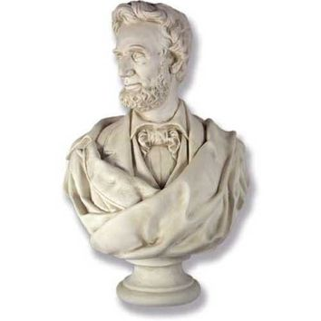 Lincoln Bust with Draped Cloth and Beard Large 34H - 7634