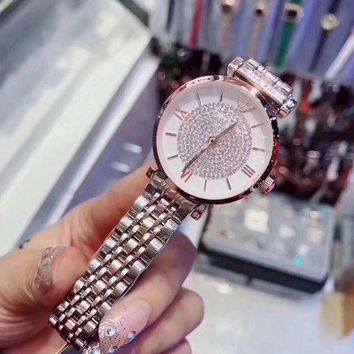 ARMANI Women Fashion Diamonds Quartz Movement Watch
