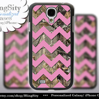 Camo Pink Chevron Galaxy S4 case S5 Real Tree Camo Deer Personalized Monogram Samsung Galaxy S3 Case Note 2 3 Cover