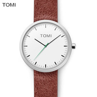TOMI Top Brand Simple Quartz watch men Business Casual Black Japan quartz-watch leather ultra thin clock male relogio masculino