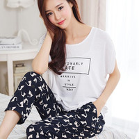 Sleepwear Women Pajamas Summer 2017 Plus Size Sleepwear Ladies Pijamas Femininos Homewear Women