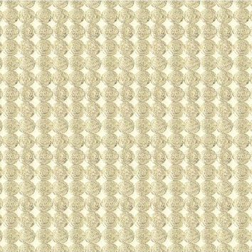 Kravet Couture Fabric 33557.411 Rare Coin Silver Gold
