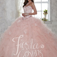 Fiesta 56282 Exquisite Ultra Feminine Quinceanera Gown
