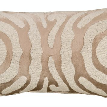 Zebra Fawn and White Small Rectangle Pillow by Lili Alessandra