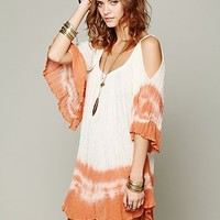 Free People Nena Tie Dye Gauze Dress