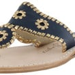 Jack Rogers Nantucket Women's Gold Thong Leather Sandals Slide