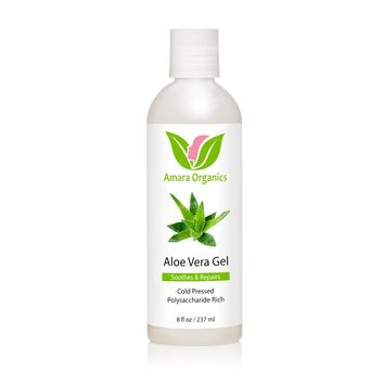 Aloe Vera Gel From Organic, Cold Pressed Aloe - 8 oz
