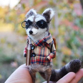 Mr.Raccoon - Felting Dreams by Johana Molina - Ready to Ship