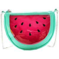 ROMWE | Transparent Watermelon Chain Shoulder Bag, The Latest Street Fashion