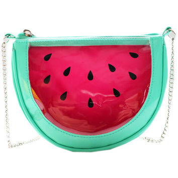ROMWE | Tranaparent Watermelon Chain Shoulder Bag, The Latest Street Fashion