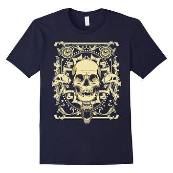 Screaming Skulls Tattoo Style T-Shirt