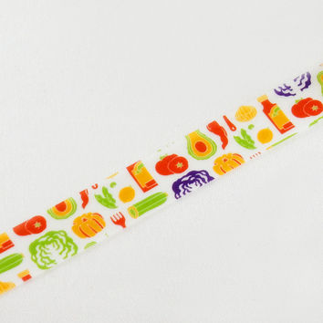 Masking Tape - ROUND TOP, Vegetables, 15mm x 10m