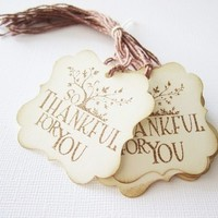 So Thankful Thank You Tags for Fall Season or Thanksgiving