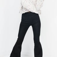 Oh Hunny Black Bell Flare Denim Jeans