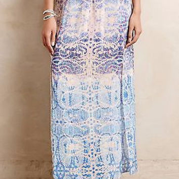 Anthropologie $158 Waimea Silk Maxi Skirt by Maeve - NWT