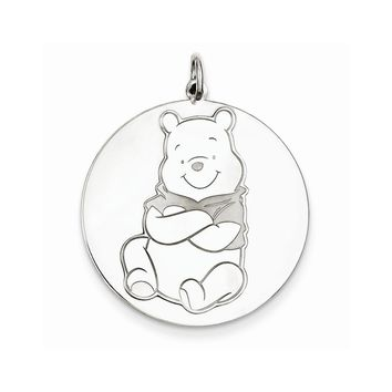 Sterling Silver or Yellow Gold Plated Disney Winnie the Pooh Charm