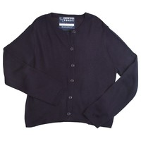 French Toast School Uniform Button-Front Cardigan - Girls' Plus, Size: