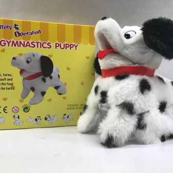 "Gymnastics Puppy Flip Over Battery Operated 8"" SK-1198"