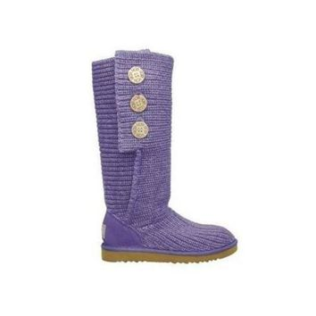 ICIKIN2 Uggs Boots Cyber Monday Knit Classic Cardy 5819 Purple For Women 81 14