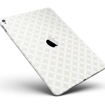 """The Tan and White Overlapping Circle Pattern Full Body Skin for the iPad Pro (12.9"""" or 9.7"""" available)"""