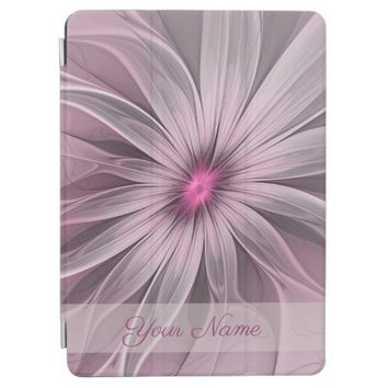 Pink Flower Waiting For A Bee Abstract Name iPad Pro Cover