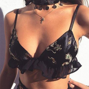 ESBONX5H Cute Hot Deal On Sale Sexy Embroidery Bra Exotic Lingerie