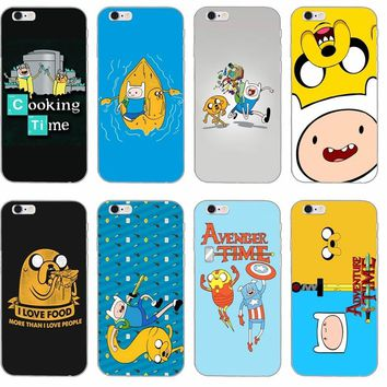 Adventure Time with Finn and Jake Soft phone case For Samsung Galaxy S3 S4 S5 S6 S7 edge S8 Plus mini Note 3 4 5 Core 2 Alpha