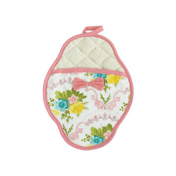 Scalloped Floral Scalloped Pot-Mitt