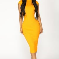 Maybelle Knit Dress - Mustard