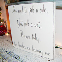 Wedding Seating Plan - Casual Seating sign!