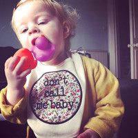 Don't call me baby bib / feminist embroidery / punk new baby gift