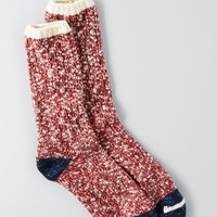 AEO 's Boot Socks (Red)