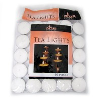Tea Lights White Unscented - 50 Count