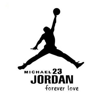 NBA Air Jordan Car Window Truck Auto Wall Home Vinyl Sticker Decor Gift