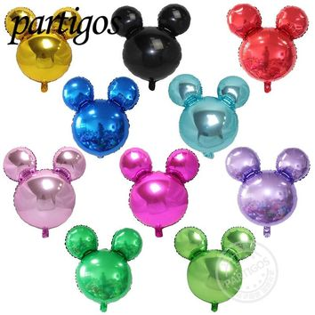20pcs/lot 63*57cm red color mickey Minnie mouse Balloons Birthday Party Supplies Decoration Cartoons party mickey globos